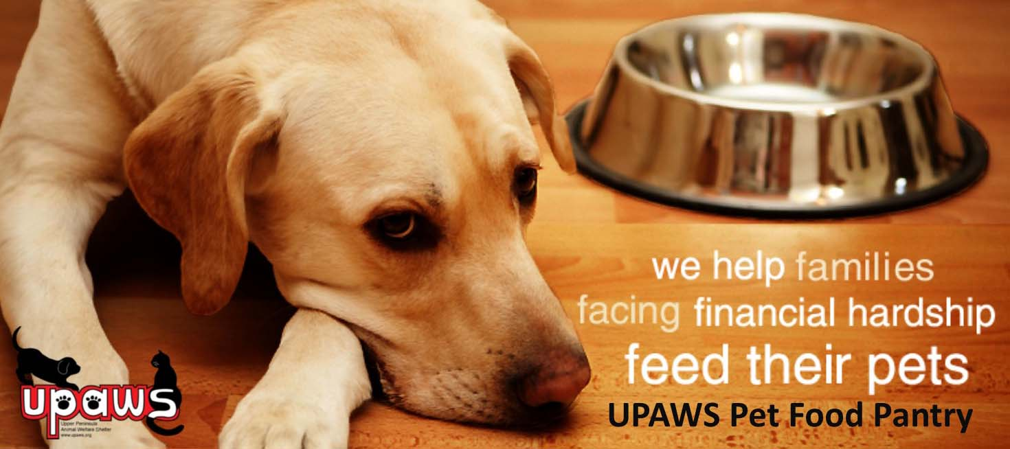 Pet Food Pantry Banner Upper Peninsula Animal Welfare Shelter