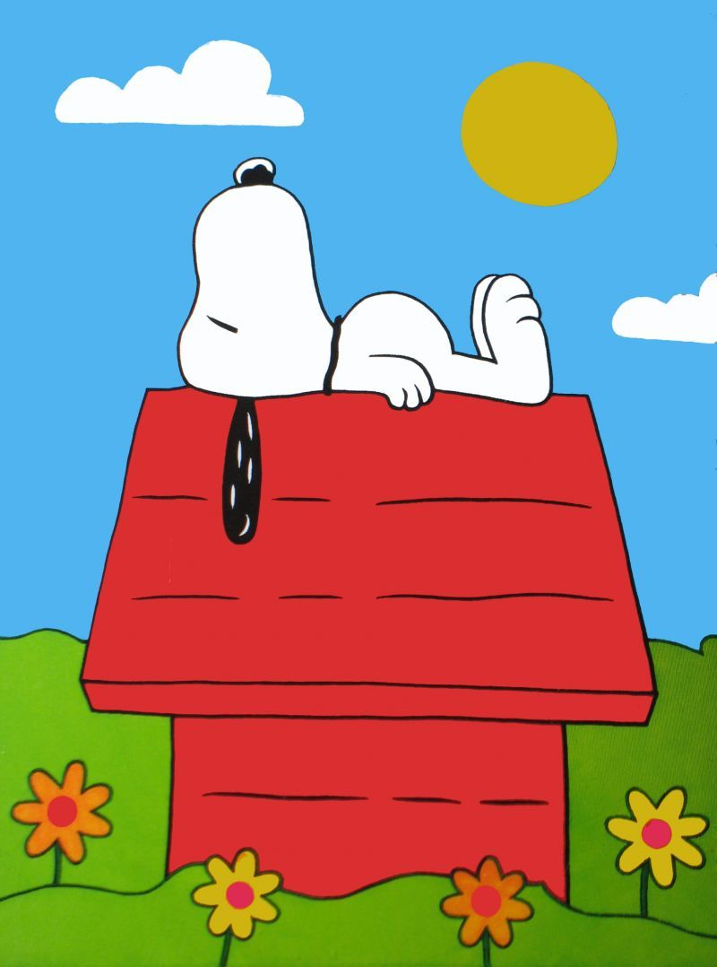 Snoopy On Dog House